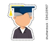 student graduation with uniform ... | Shutterstock .eps vector #534135907