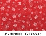 christmas snow washi background | Shutterstock .eps vector #534137167