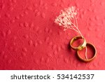 stylish red wedding background  ... | Shutterstock . vector #534142537
