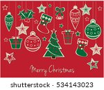 merry christmas greeting card... | Shutterstock .eps vector #534143023