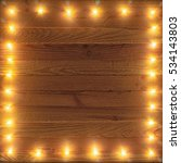 retro christmas lights frame.... | Shutterstock . vector #534143803