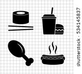 food   vector icon  set   leg ... | Shutterstock .eps vector #534145837