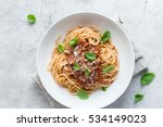 Spaghetti Pasta With Bolognese...