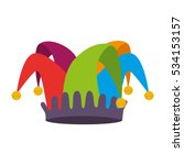 fools hat isolated icon | Shutterstock .eps vector #534153157