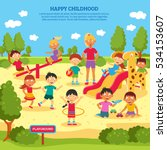 illustration of children... | Shutterstock . vector #534153607