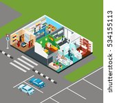 shopping mall isometric icons... | Shutterstock . vector #534155113