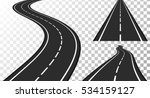 vertical asphalt roads  vector... | Shutterstock .eps vector #534159127
