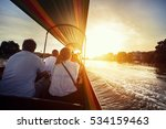 tourist sitting in long tail...   Shutterstock . vector #534159463