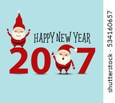 merry christmas and happy new... | Shutterstock .eps vector #534160657