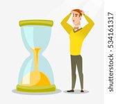 caucasian businessman looking... | Shutterstock .eps vector #534161317
