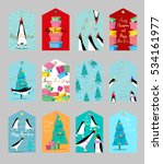 collection of cute christmas... | Shutterstock . vector #534161977