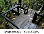 wooden stairway in jungle... | Shutterstock . vector #534166897