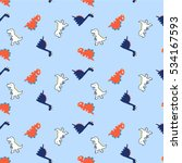 adorable pattern with funny... | Shutterstock .eps vector #534167593