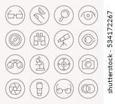 optical thin line icon set | Shutterstock .eps vector #534172267