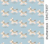 pattern of the fun of horse | Shutterstock .eps vector #534175357