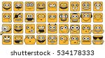 funny smiley faces collection.... | Shutterstock .eps vector #534178333