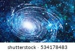 colorful starry night sky outer ... | Shutterstock . vector #534178483