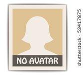 vector female avatar   Shutterstock .eps vector #53417875