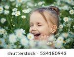 Little Smiling Girl Blonde...