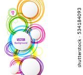 circle design background with... | Shutterstock .eps vector #534184093