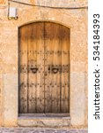 Old Brown Weathered Wood Door...
