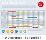 project schedule chart or... | Shutterstock .eps vector #534185857