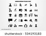 education set vector icons. | Shutterstock .eps vector #534193183