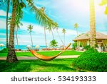 beautiful maldive resort and...   Shutterstock . vector #534193333