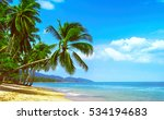 beautiful sunny beach. view of... | Shutterstock . vector #534194683