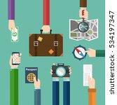 travel concept  hands holding... | Shutterstock .eps vector #534197347