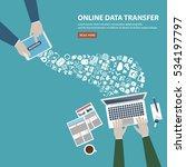 online data transfer concept ... | Shutterstock .eps vector #534197797