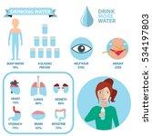 body water infographics  drink... | Shutterstock .eps vector #534197803