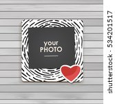 photo frame album template for... | Shutterstock .eps vector #534201517