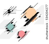 set of colorful vector shapes.... | Shutterstock .eps vector #534204277
