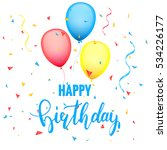 festive birthday card template... | Shutterstock .eps vector #534226177