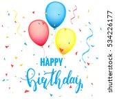festive birthday card template...   Shutterstock .eps vector #534226177