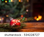 Red Christmas Decoration In...