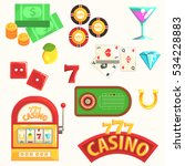 gambling and casino night club... | Shutterstock .eps vector #534228883
