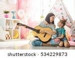 happy loving family. pretty...   Shutterstock . vector #534229873