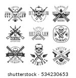 street outlaw criminal club... | Shutterstock .eps vector #534230653