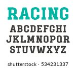 slab serif font in the style of ... | Shutterstock .eps vector #534231337