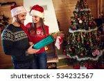 girl surprise boyfriend with... | Shutterstock . vector #534232567