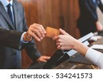 customer paying for services in ... | Shutterstock . vector #534241573