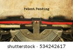 patent pending typed words on a ... | Shutterstock . vector #534242617