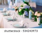wedding table settings. | Shutterstock . vector #534243973