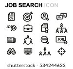 vector line job search icons... | Shutterstock .eps vector #534244633