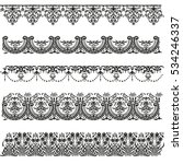 old border designs vector set | Shutterstock .eps vector #534246337
