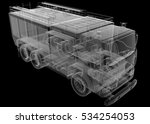 isolated transparent fire truck ... | Shutterstock . vector #534254053
