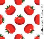 tomatoes seamless pattern... | Shutterstock .eps vector #534265147