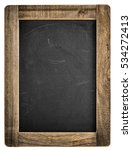 chalkboard with wooden frame.... | Shutterstock . vector #534272413